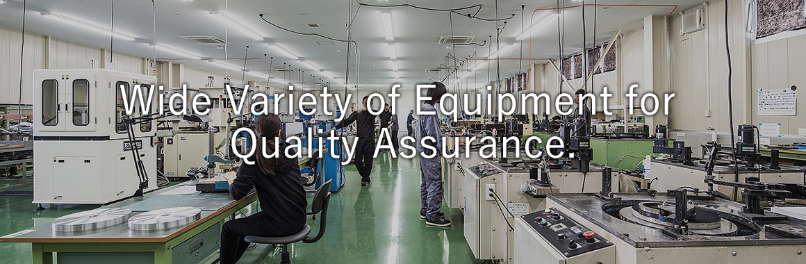 Wide Variety of Equipment for Quality Assurance