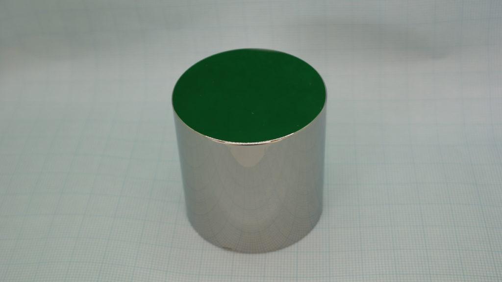 研磨加工製品例「純チタン 円筒鏡面加工」